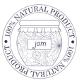 Natural product stamp with jam vector image vector image