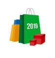 new year shopping set of bags vector image vector image
