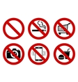 No signs vector image vector image