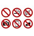 No signs vector image