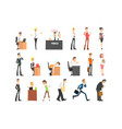 ofiice workers icon set vector image vector image