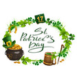 patricks day accessories pot gold beer mug vector image vector image