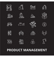 project management icons editable line icons vector image vector image