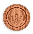 round wooden signboard beer design elements vector image vector image