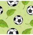 seamless football and leaves vector image vector image