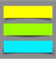 set paper colorful banners with shadows vector image vector image