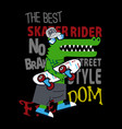 skateboard t shirt vector image