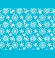 snowflakes seamless texture vector image