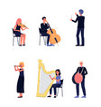 symphony orchestra musician people - flat isolated vector image vector image