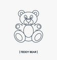 teddy bear outline icon vector image vector image