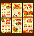 thanksgiving autumn discount sale posters vector image vector image