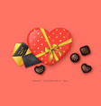 valentines day holiday card vector image vector image