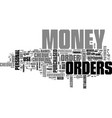where and why to get money orders text word cloud vector image vector image