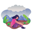 woman in depression vector image