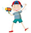 Boy with water gun vector image