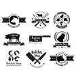 butcher shop logo and label vector image