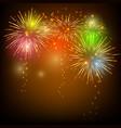 colorful fireworks on black background for vector image