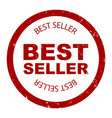 best seller simple stamp round vector image