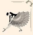 image of ballet girl vector image