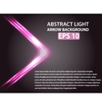 Abstract background with light arrow Pink vector image vector image