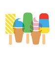 background colorful icecream cones vector image