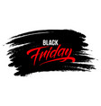 black friday sale lettering on a brush stroke vector image vector image