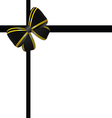 bow in black and gold color vector image vector image