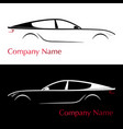 business card for auto company silhouette car vector image