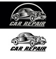 car repair logo team vector image