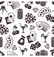 casino seamless pattern design dice playing vector image vector image