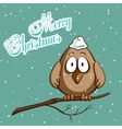 Christmas Greeting Card Bird vector image vector image