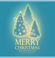 christmas holiday design template with shining fir vector image vector image
