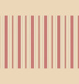 classic beige red striped seamless texture vector image vector image