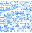 cloud computing technology seamless pattern vector image vector image