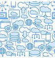 Cloud computing technology seamless pattern