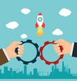 collaboration in business vector image