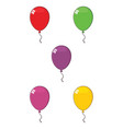 colorful balloons 01 collection vector image vector image