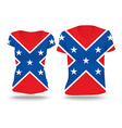 Confederate flag shirt design vector image vector image