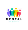 dental tooth teeth people family team community vector image vector image