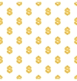 Dollar currency symbol pattern cartoon style vector image vector image
