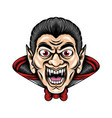dracula with sharp teeth and big eyes he