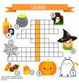 educational game for children halloween crossword vector image vector image