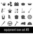 equipment icon set 8 gray icons on white vector image vector image