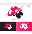 Flower Swoosh Logo Icons vector image vector image