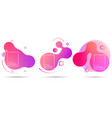 fluid gradient liquid vector image