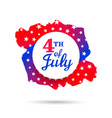 fourth july holiday banner with hat and shape vector image vector image