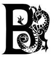 gargoyle capital letter b vector image vector image