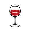 glasse red wine cheers with wineglass vector image
