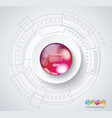 global social media concept abstract technology vector image vector image