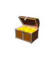 golden open chest 3d object vintage icon isolated vector image